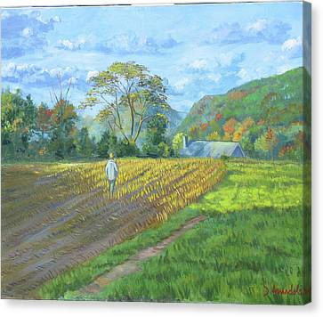 After The Harvest Canvas Print by Dominique Amendola