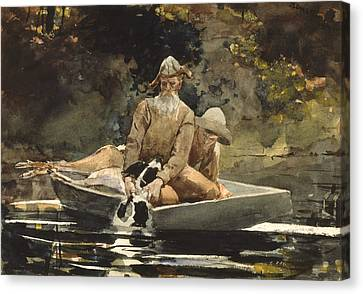 After The Hunt Canvas Print by Winslow Homer