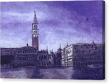 After The Pier At San Marco Canvas Print by Hyper - Canaletto