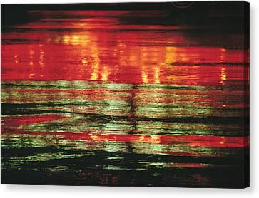 After The Rain Abstract 1 Canvas Print by Tony Cordoza