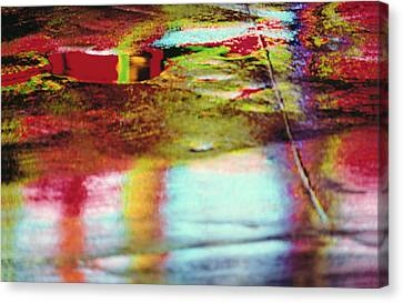After The Rain Abstract 2 Canvas Print by Tony Cordoza