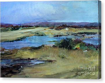 Canvas Print featuring the painting After The Rain by Diane Ursin