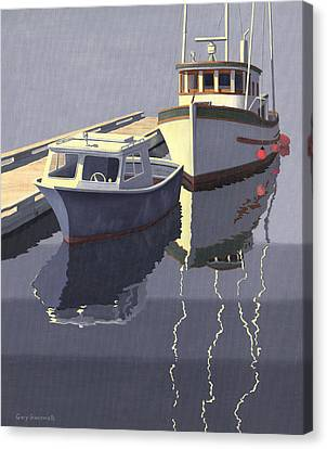 Trawler Canvas Print - After The Rain by Gary Giacomelli
