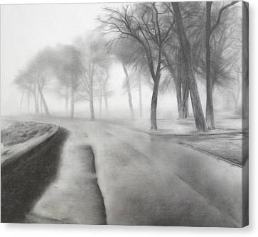Foggy Day Canvas Print - After The Rain by Lauren Bigelow