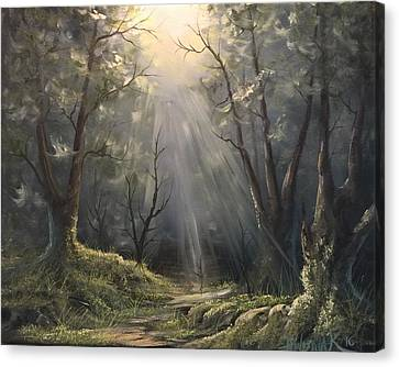 After The Rain  Canvas Print by Paintings by Justin Wozniak