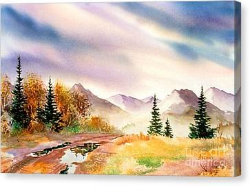 Canvas Print featuring the painting After The Rain by Teresa Ascone
