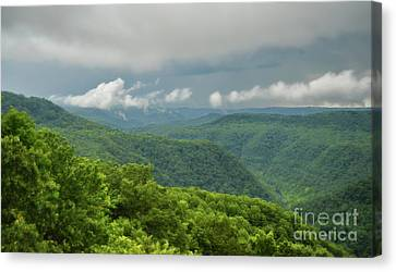 Canvas Print featuring the photograph After The Rain - The Bluestone Gorge At Pipestem State Park by Kerri Farley