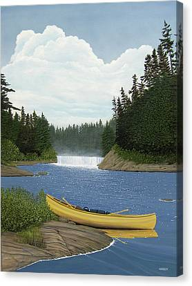 After The Rapids Canvas Print by Kenneth M  Kirsch
