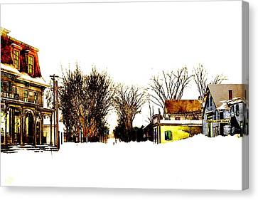 Grocery Store Canvas Print - After The Snow Storm by Cliff Wilson