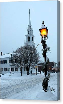 After The Snowfall Canvas Print by Suzanne DeGeorge