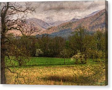 After The Spring Rain Canvas Print by Rebecca Hiatt