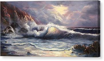 Canvas Print featuring the painting After The Storm by Joni McPherson