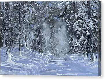 Canvas Print featuring the painting After The Storm by Ken Ahlering