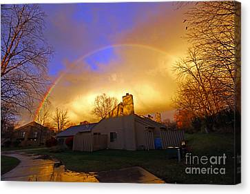 Rainbow Glow Canvas Print by Steve  Gass