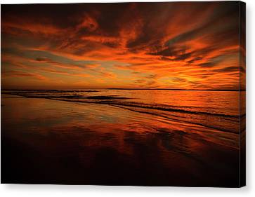 Topsail Island Canvas Print - After The Sun by Betsy Knapp