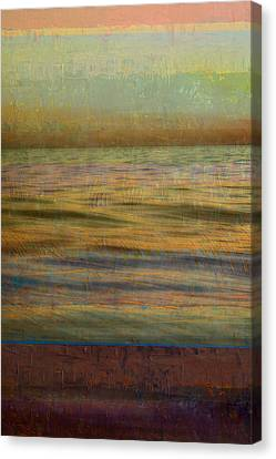 Canvas Print featuring the photograph After The Sunset - Teal Sky by Michelle Calkins