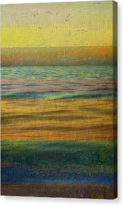 Canvas Print featuring the photograph After The Sunset - Yellow Sky by Michelle Calkins
