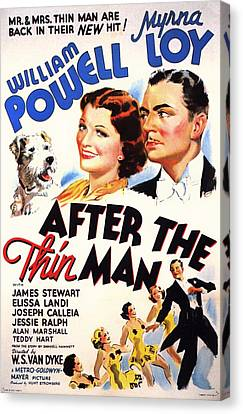 Actress Canvas Print - After The Thin Man 1935 by Mountain Dreams