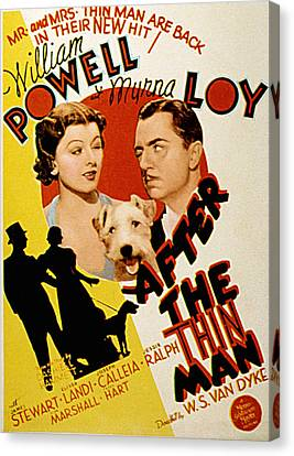 After The Thin Man, Myrna Loy, Asta Canvas Print by Everett