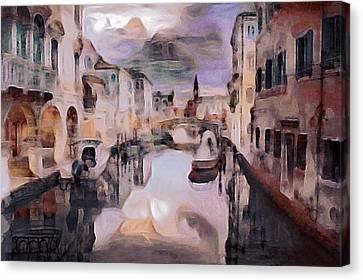 Italian Landscape Canvas Print - After The Venetian Rain by Susan Maxwell Schmidt