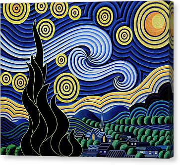 After Van Gogh The Starry Night Canvas Print