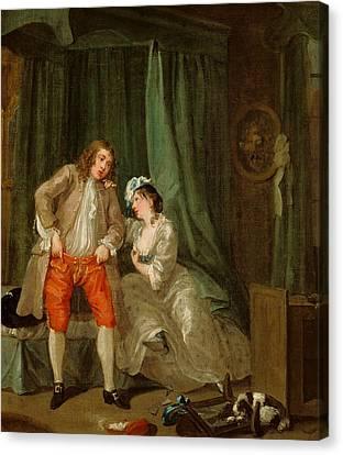Hogarth Canvas Print - After by William Hogarth