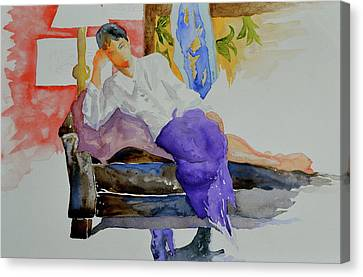Canvas Print featuring the painting After Work by Beverley Harper Tinsley