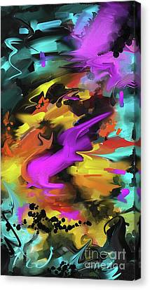 Canvas Print featuring the painting After Work by S G