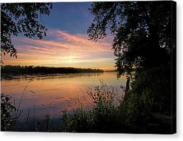 Canvas Print featuring the photograph Afterglow by Cricket Hackmann