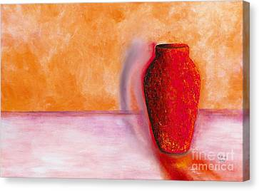 Canvas Print featuring the painting Afterglow by Marlene Book