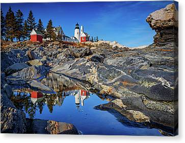 Afternoon At Pemaquid Point Canvas Print by Rick Berk