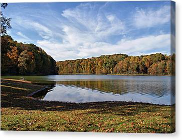 Afternoon At The Lake Canvas Print by Sandy Keeton