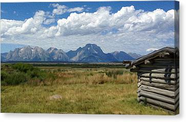 Afternoon At The Tetons Canvas Print