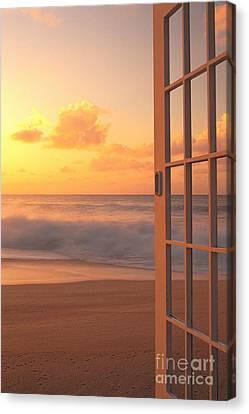 Afternoon Beach Scene Canvas Print by Dana Edmunds - Printscapes