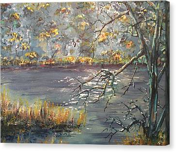 Canvas Print featuring the painting Afternoon Getaway by Dan Whittemore