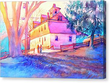 Grist Canvas Print - Afternoon Glow by Virgil Carter