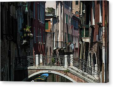 Canvas Print featuring the photograph Afternoon In Venice by Alex Lapidus