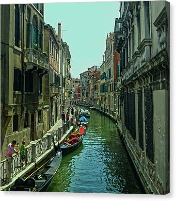Canvas Print featuring the photograph Afternoon In Venice by Anne Kotan