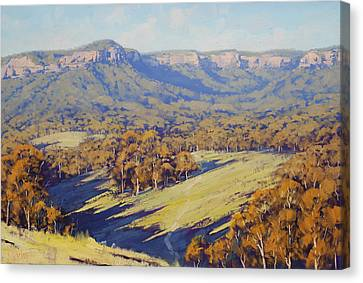 Afternoon Light Megalong Valle Canvas Print
