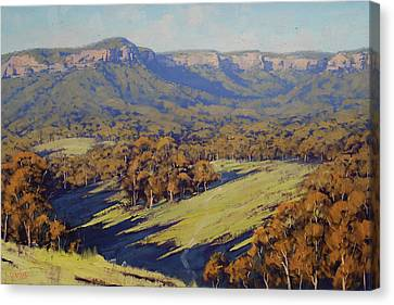 Afternoon Light Megalong Valley Canvas Print by Graham Gercken