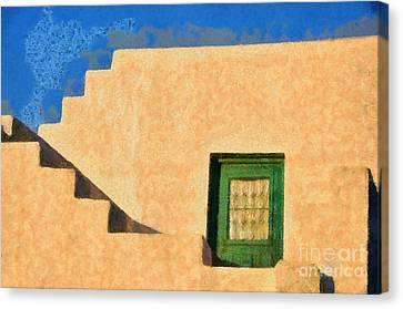 Afternoon Light On Sifnos Island Canvas Print by George Atsametakis