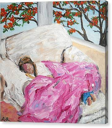 Afternoon Nap At Grandmas Canvas Print by Reina Resto