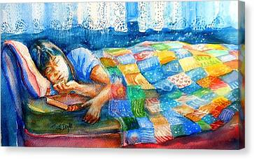 Afternoon Nap Canvas Print by Trudi Doyle