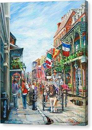 Afternoon On St. Ann Canvas Print by Dianne Parks