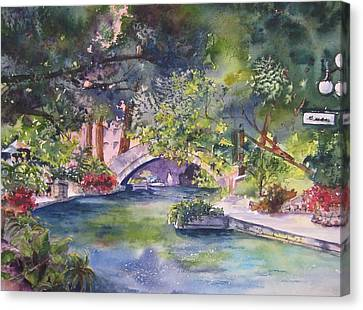 Afternoon On The San Antonio Riverwalk Canvas Print by Kate Wyman