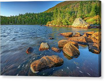 Maine Mountains Canvas Print - Afternoon On Tumbledown Mountain by Rick Berk