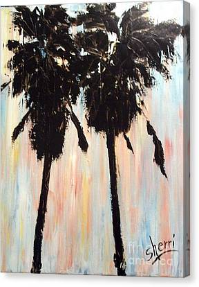 Afternoon Palms Canvas Print by Sherri Wimberly
