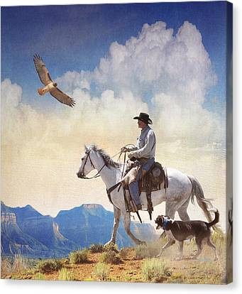 Afternoon Ride  Canvas Print by R christopher Vest