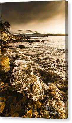 Afternoon Rocky Coast  Canvas Print by Jorgo Photography - Wall Art Gallery