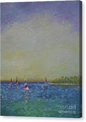 Afternoon Sailing Canvas Print by Gail Kent